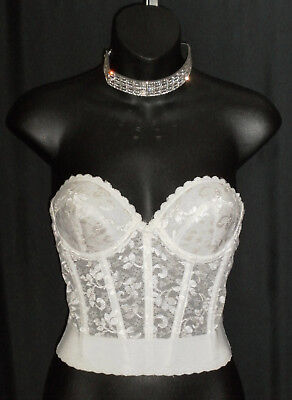 c7e37d7edb Vintage 70 s CARNIVAL Strapless Lace Longline Corset Bra in Original Package  34B