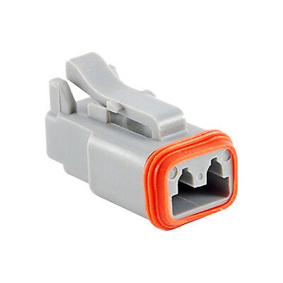 Lot of 545 pieces 2 Position Rectangular Housing Connector Plug Gray