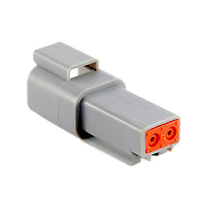 Lot of 1,600 pieces 2 Position Rectangular Housing Connector Receptacle Gray