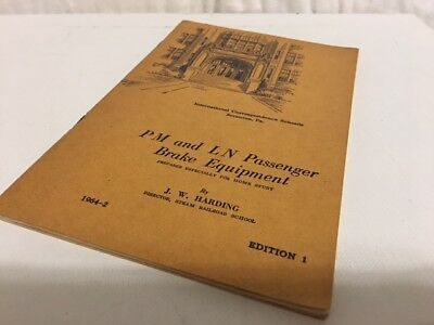 ICS Home Study 1947 PM and LN Passenger Brake Equipment Booklet Illustrated