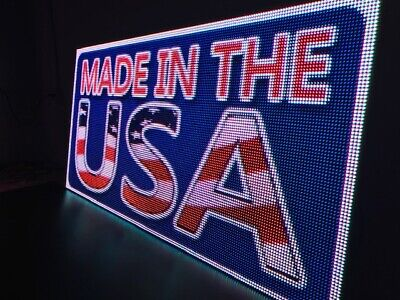 """LED SIGN One Sided  (19"""" X 137.5"""") P10 WiFi Full Color for outdoor  US- Factory"""