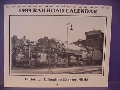 5 New Archival Condition 1989 Railroad Calendar Pottstown Reading Chapter, Nrhs