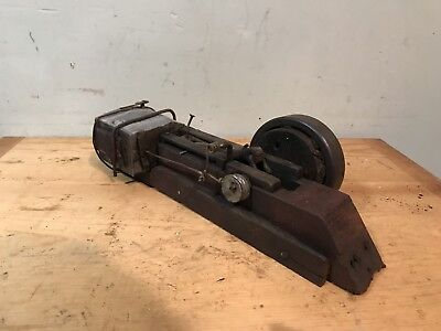Antique Model Steam Engine Rustic Handmade -One Of A Kind-
