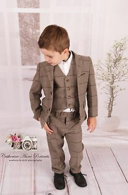 Couche Tot Beau Kid Boys Suit Jacket Trousers & Waistcoat Size 3-4 Years