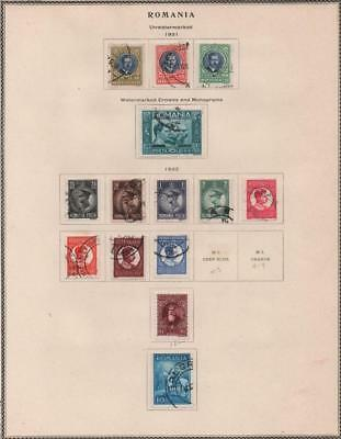 ROMANIA: 1931-1932 Examples - Ex-Old Time Collection - Album Page (18947)