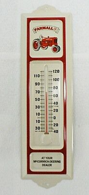 Vintage Farmall Tractor Mccormick Deering Dealer Thermometer