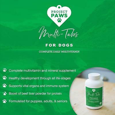MULTI Plus DOG VITAMINS and MINERALS Liver Protein CHEWABLE for Puppies SENIORS