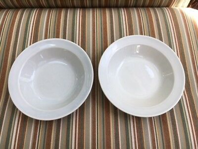 """2 LURAY TAYLOR SMITH TAYLOR BERRY or FRUIT 5"""" BOWL  CHATHAM GRAY TS&T"""