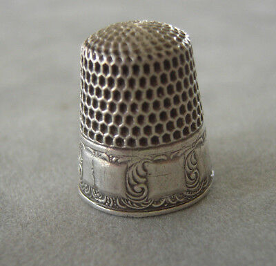Antique Sterling Silver Thimble by Webster Co * Circa 1900s Size 8