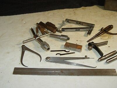 Estate Old Vintage Machinist Assorted Lot Of Tools Brown Sharpe Starrett Etc #17