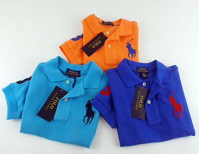 Orange Toddler Polo Big Shirt Blue 2 Lauren NewRalph Sizes Pony Boys 3 4 b76fgy
