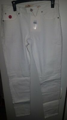 Red Jeans NYC Womens Size 7/8 White Twill Skinny Regular Rise Pants [NWT]