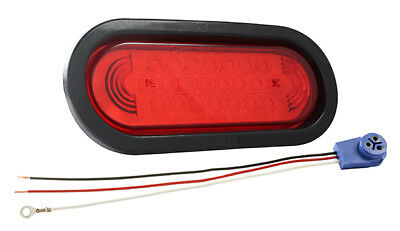Grote 53122 Red SuperNova Oval LED Stop Tail Turn Light (53962 + 92420 + 67005)