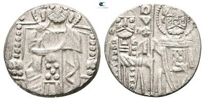 Savoca Coins Italy Venice Grosso Doge Christ St. Marco 1,06 g / 14 mm @TAD7394