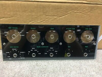 Mcintosh C20 Front Faceplate Early Version Plastic