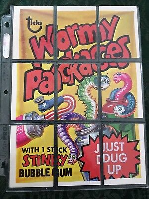 Wacky Packages Complete Series 4 Checklist Puzzle Set - Wormy Packages
