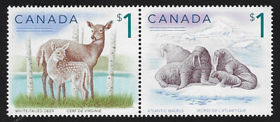 Canada Stamps — Wildlife: White-Tailed Deer & Atlantic Whalrus #1688-89 — MNH