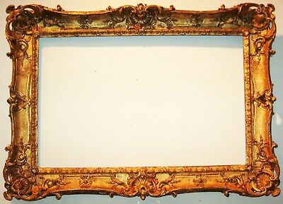 EXCEPTIONAL LOUIS XV STYLE CARVED & GILT WOOD WALL FRAME 18th CENTURY
