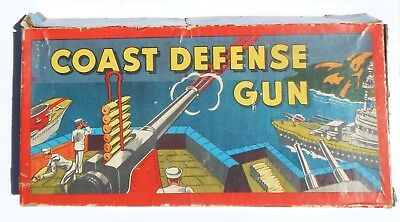Orig Us Early Wwii Home Front Toy Coastal Defense Box Nice Colorful Graphics