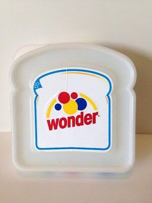 Wonder Bread Plastic Sandwich Container 2006 White Logo Promotional Keeper