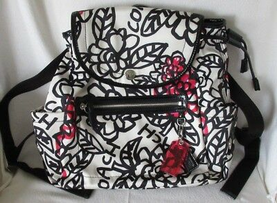 Coach poppy floral flowers swingpack crossbody coated f51105 pink coach poppy floral graffiti backpack purse bag flowers white black red mightylinksfo