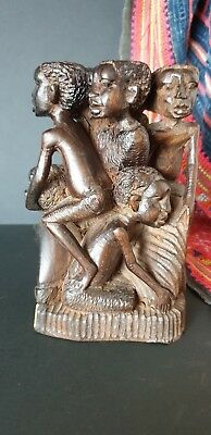Old African Carving with Eight People …beautiful collection & display item