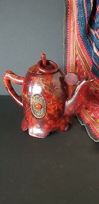 Old Chinese Soft Stone Inlaid Tea Pot  …beautiful collection piece