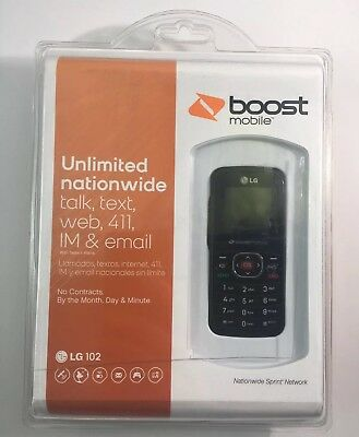 LG 102 Boost Mobile Cell Phone No Contract Pre Paid Brand New Sealed Free Ship