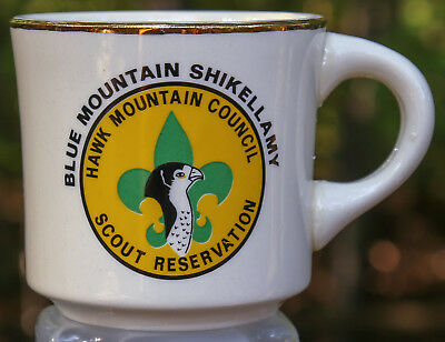 Vintage Hawk Mountain Council Scout Reservation Mug 1971 - Uncommon to Rare