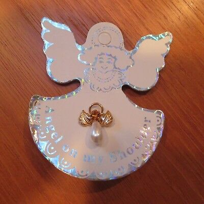 """New, """"Angle on my Shoulder"""" Pin w/ Topaz"""