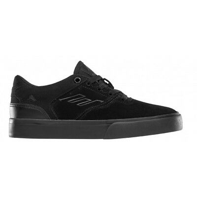 NEW Emerica Youth Reynolds Low Vulc Black/Black/Black