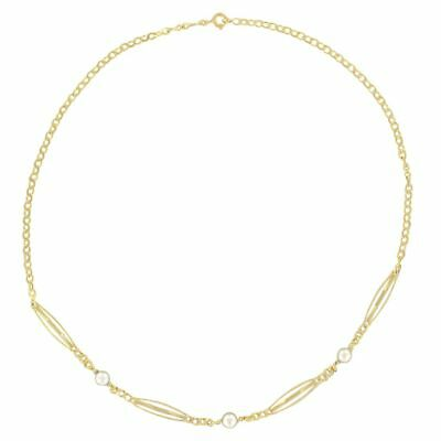 Chain Necklace antique yellow gold beads Necklace