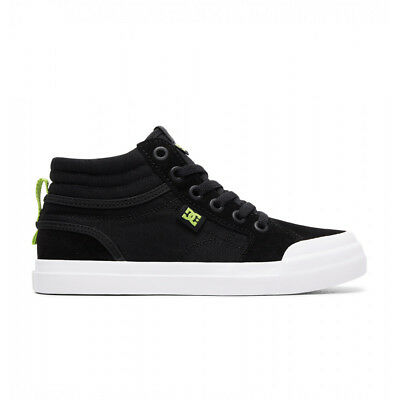 NEW DC Youth Evan Smith Hi Elastic/Zip Black/Lime