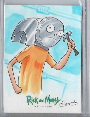2018 Cryptozoic Rick And  Morty Sketch Card Season 1 George Vega Hammerhead