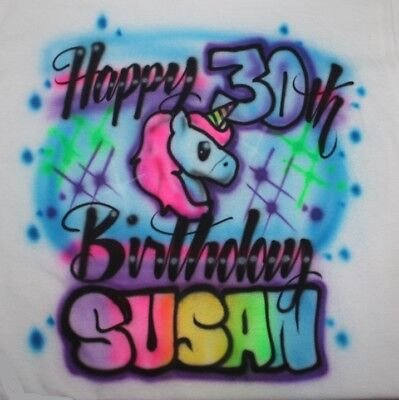 Personalized Girls Unicorn Emoji Birthday Party T SHIRT 2nd 3rd 4th 10th 1st 8th
