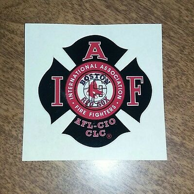 IAFF Sticker, Decal. AWESOME Boston Red Sox Firefighter Union Decal! NICE!!!!