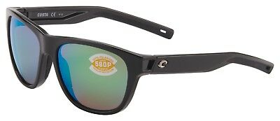 d67391a8ec Costa Del Mar Bayside Sunglasses BAY-11-OGMP Shiny Black 580P Green  Polarized