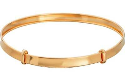 NEW Solid 9ct Gold Expanding Baby Bangle 3mm Thickness - UK Hallmarked