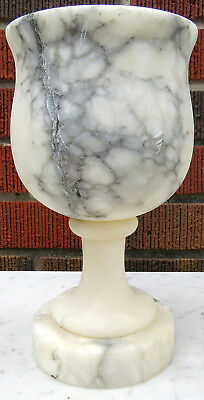 Vintage Carved Marble Alabaster Vase or Chalise