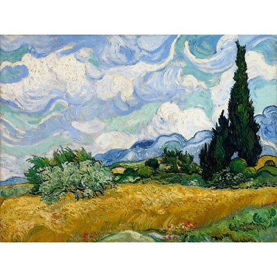 Wheat Field  Vincent Van Gogh HD Canvas Art Print Oil Painting Decor No Frame