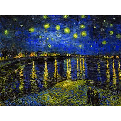 Starry Night#2 Vincent Van Gogh HD Canvas Painted OilPainting Wall Decor NoFrame
