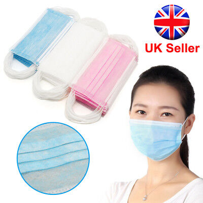 Disposable Surgical Face Mask & Ear Loops - Medical Salon Travel Flu Mouth Cover