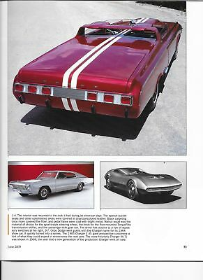 1964 DODGE CHARGER SHOW CAR 12 pg Color Article
