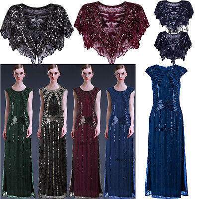 Evening Dresses 1920's Flapper Dress Wedding Gowns Party Cocktail Prom Plus Size