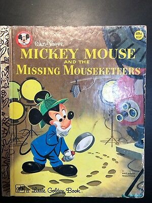 Vintage 1975 Mickey Mouse  the Missing Mouseketeers, Disneyland, Golden Book