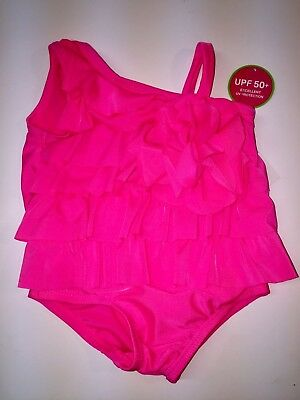 Childrens Place One Piece Hot Pink Baby Girl Bathing Suit New NWT