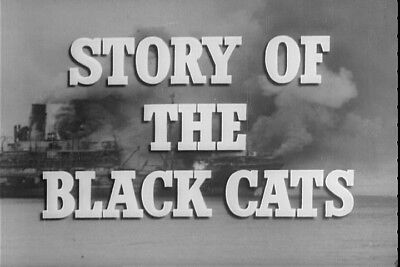 The Story Of The Black Cats Squadron Vintage 1940s WW2 US Navy Movie Film