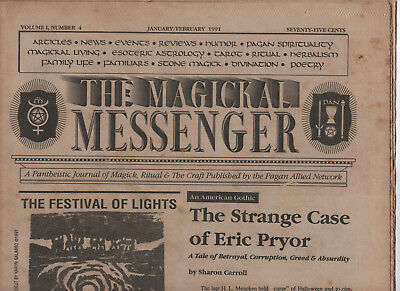The Magickal Messenger, Vintage Wicca Newsletter-Paper, January 1991, Witchcraft
