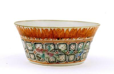 1900's Chinese Famille Rose Coral Red Porcelain Wine Tea Cup with Flowers