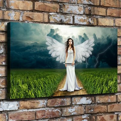 "12""x22""Angel Clouds Landscape HD Canvas prints Painting Home Decor Wall art"